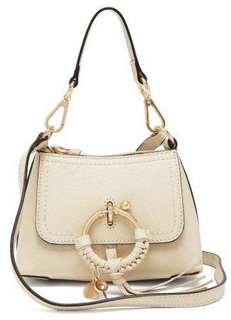 Joan Mini Leather Cross Body Bag - Womens - Cream