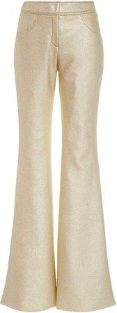 Kalmanovich Metallic Flared-Leg Trousers