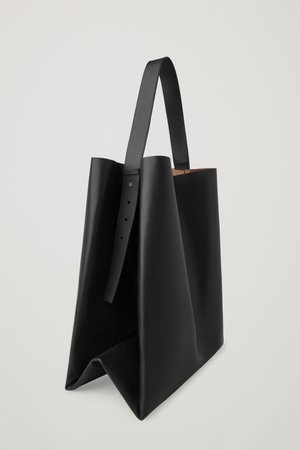 LEATHER TOTE BAG - Black - Bags - COS GB