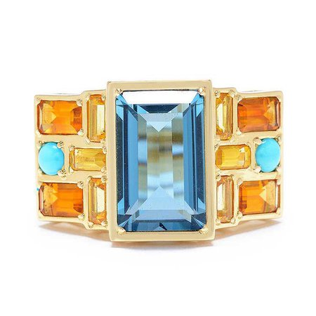 Cirque One-of-a-Kind Puzzle Wheel Ring with London Blue Topaz — Jane Taylor Jewelry