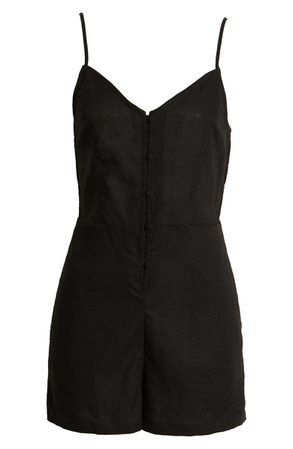 BP. Sleeveless Button Front Romper | Nordstrom