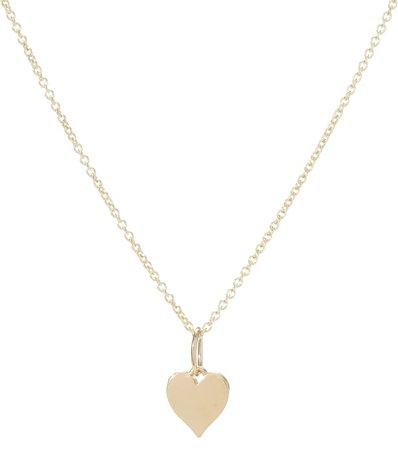 Sydney Evan Tiny Pure Heart Charm 14Kt Gold Necklace