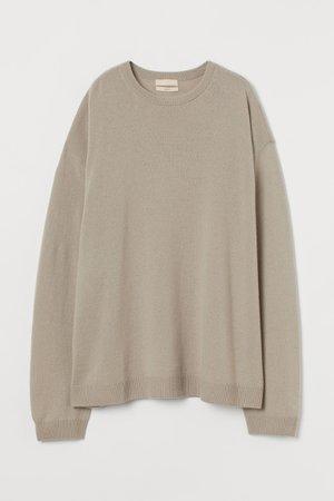 Oversized cashmere jumper - Beige - Ladies | H&M GB