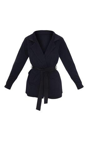Belted Black Blazer | Coats & Jackets | PrettyLittleThing