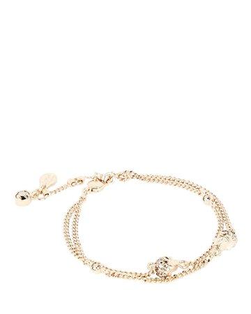 Alexander McQueen Pavé Skull Chain Bracelet | INTERMIX®