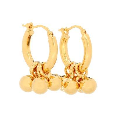 Embellished Hoop Earrings - Jil Sander | Mytheresa