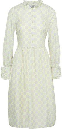 Agacia Ruffle-trimmed Floral-print Woven Dress