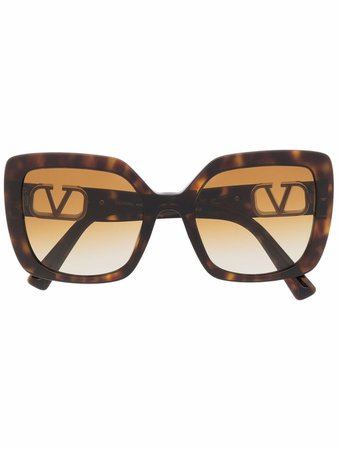 Valentino Eyewear VLogo Signature butterfly-frame Sunglasses - Farfetch
