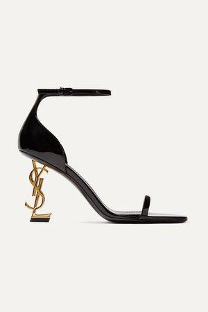 SAINT LAURENT | Opyum patent-leather sandals | NET-A-PORTER.COM