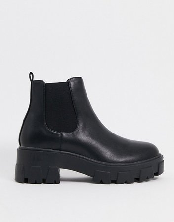 RAID Liza chelsea boots with chunky soles in black | ASOS