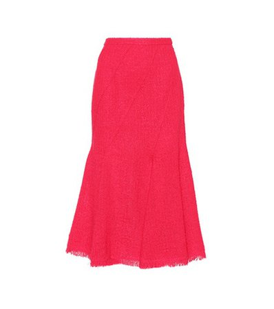 Wool and mohair-blend skirt