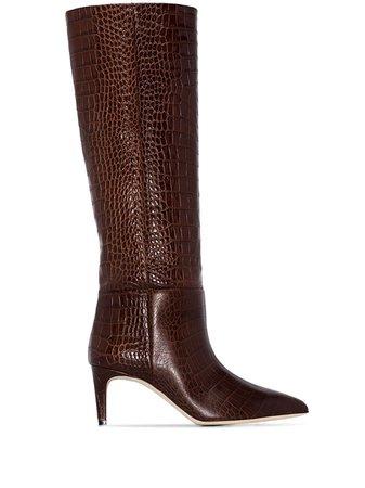 Paris Texas, snakeskin effect boots