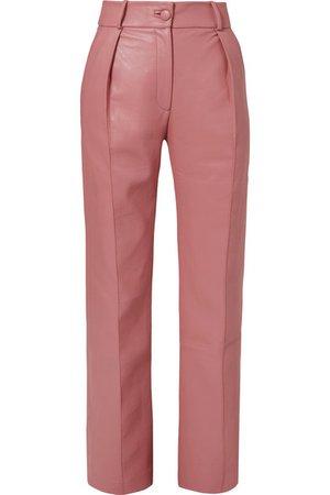 MATÉRIEL   Faux leather straight-leg pants   NET-A-PORTER.COM