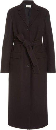 The Row Owen Belted Wool Long Coat