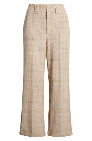 Dickies Plaid Straight Leg Crop Work Pants | Nordstrom