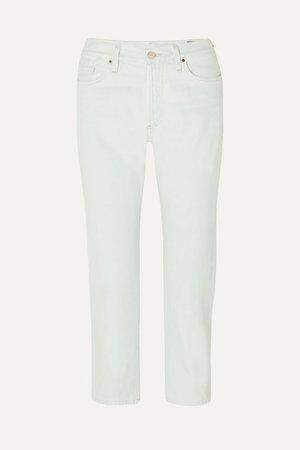 The Low Slung Cropped Low-rise Straight-leg Jeans - Light denim
