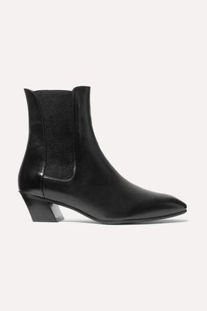 Cleora Leather Chelsea Boots - Black