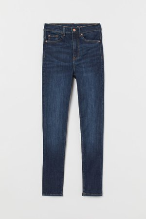 Shaping Ultra High Ankle Jeans - Blue