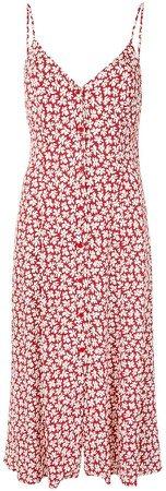 Gemstone floral-print midi-dress