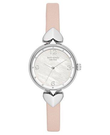 kate spade new york Women's Hollis Vellum Leather Strap Watch 30mm - Watches  - Macy's