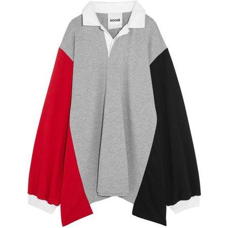 Koché Oversized paneled jersey sweatshirt
