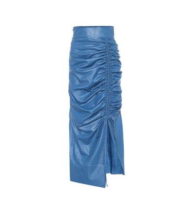 High-Rise Faux-Leather Midi Skirt | Matériel Tbilisi - Mytheresa