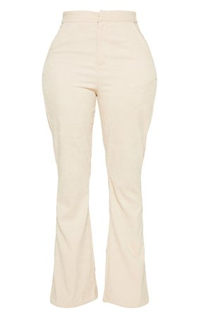 Camel Cord High Waisted Wide Leg Trouser | PrettyLittleThing USA
