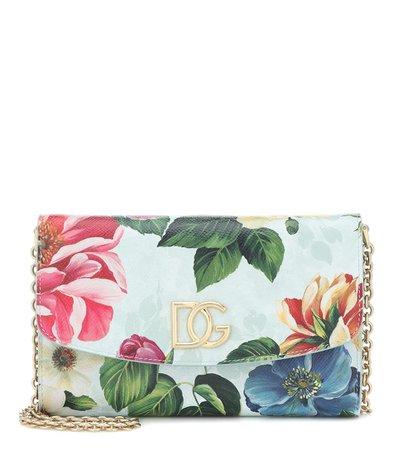 Floral Leather Shoulder Bag | Dolce & Gabbana - Mytheresa