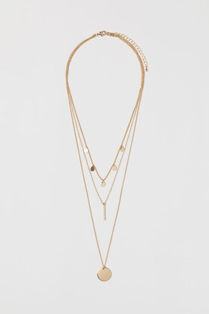 Triple-strand Necklace - Gold-colored - Ladies | H&M CA