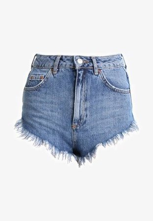 Topshop FRAY HEM KIRI - Jeans Short / cowboy shorts - blue - Zalando.dk