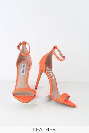 Steve Madden Sane - Coral Nubuck Leather Heels - Ankle Strap Heel