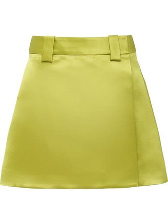 Prada Double Satin Skirt