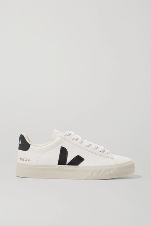 Campo Textured-leather Sneakers - White