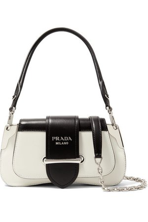 Prada   Sidonie mini two-tone leather shoulder bag   NET-A-PORTER.COM