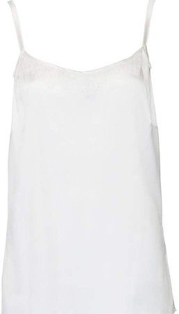 Silk Camisole Trimmed With Delicate Lace