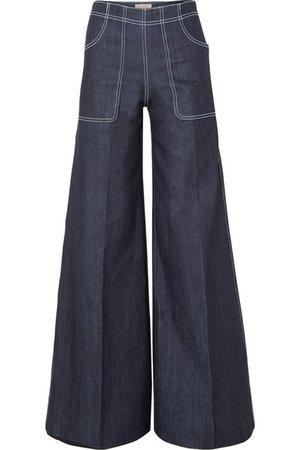 Burberry   Jean large taille haute   NET-A-PORTER.COM
