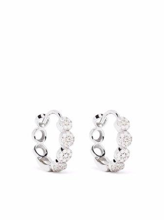 Dinny Hall 14kt White Gold Shuga Pave Diamond Huggie Hoop Earrings - Farfetch