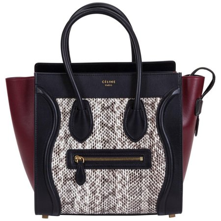 Celine Limited Edition Water Snake Micro Luggage Bag For Sale at 1stdibs