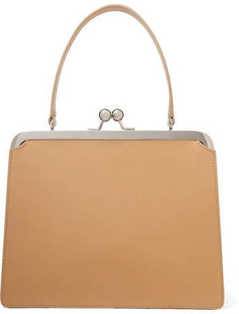 Frame Leather Tote - Beige