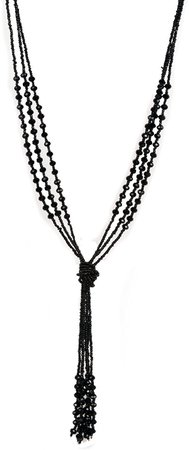 """Vintage Style Charcoal Black Long Multitier Beaded Womens Necklace Jewelry (Long - 31""""): Amazon.ca: Gateway"""