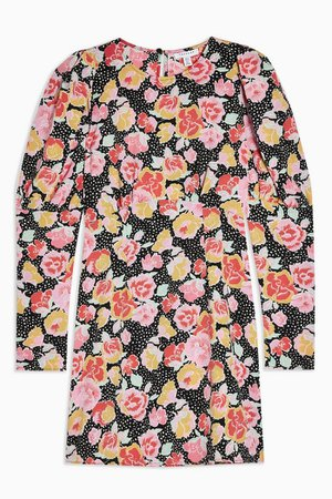 Pastel Print Mini Dress | Topshop