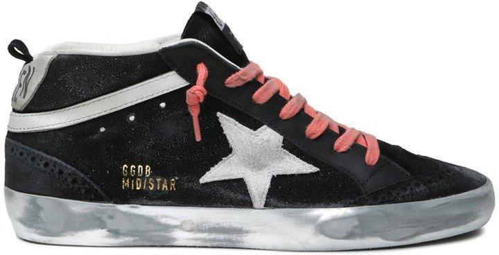 Mid Star Sneaker in Black/White