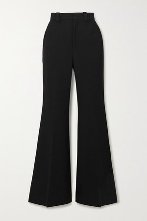 Dilman Stretch-crepe Flared Pants - Black