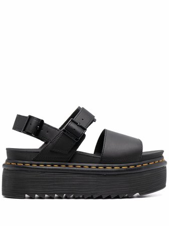 Shop black Dr. Martens platform-sole sandals with Express Delivery - Farfetch