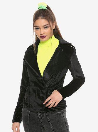 Black Velvet Girls Moto Jacket