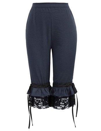 Amazon.com: SCARLET DARKNESS Women Capri Cropped Pants Vintage Victorian Steampunk Pirate: Clothing