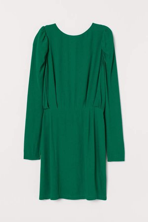 Creped Dress - Green