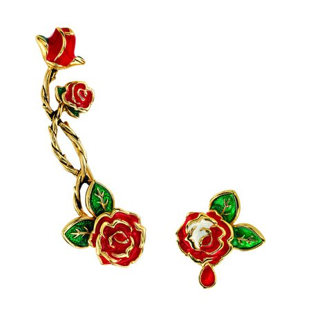 Disney X RockLove Alice in Wonderland Painting the Roses Ear Climber and Stud – RockLove Jewelry