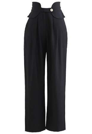 High-Waisted Tapered Pants in Black - Retro, Indie and Unique Fashion