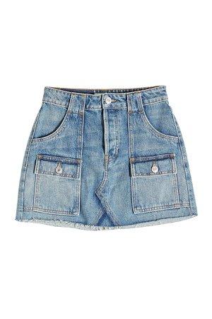 Cargo Denim Mini Skirt Gr. 25